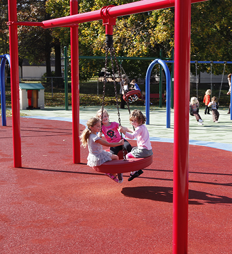 Tire Swings on Preschool and PreK Playgrounds
