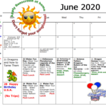 Summer Camp June 2020 Calendar